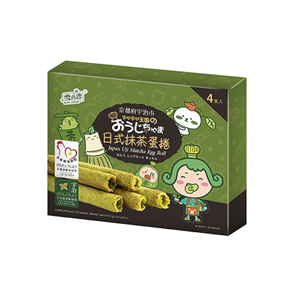 茶茶小王子日式抹茶蛋捲72g【愛買】