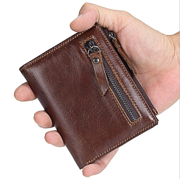 零錢包男士短款錢包 韓版豎款男錢包 磁釦復古皮夾男生卡包商務短夾 男士百搭男款多卡位錢夾