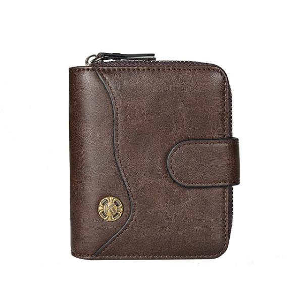 韓版橫款男錢包 多功能皮夾男生卡包商務短夾 拉鏈三折男士男款多卡位錢夾 零錢包男士短款錢包