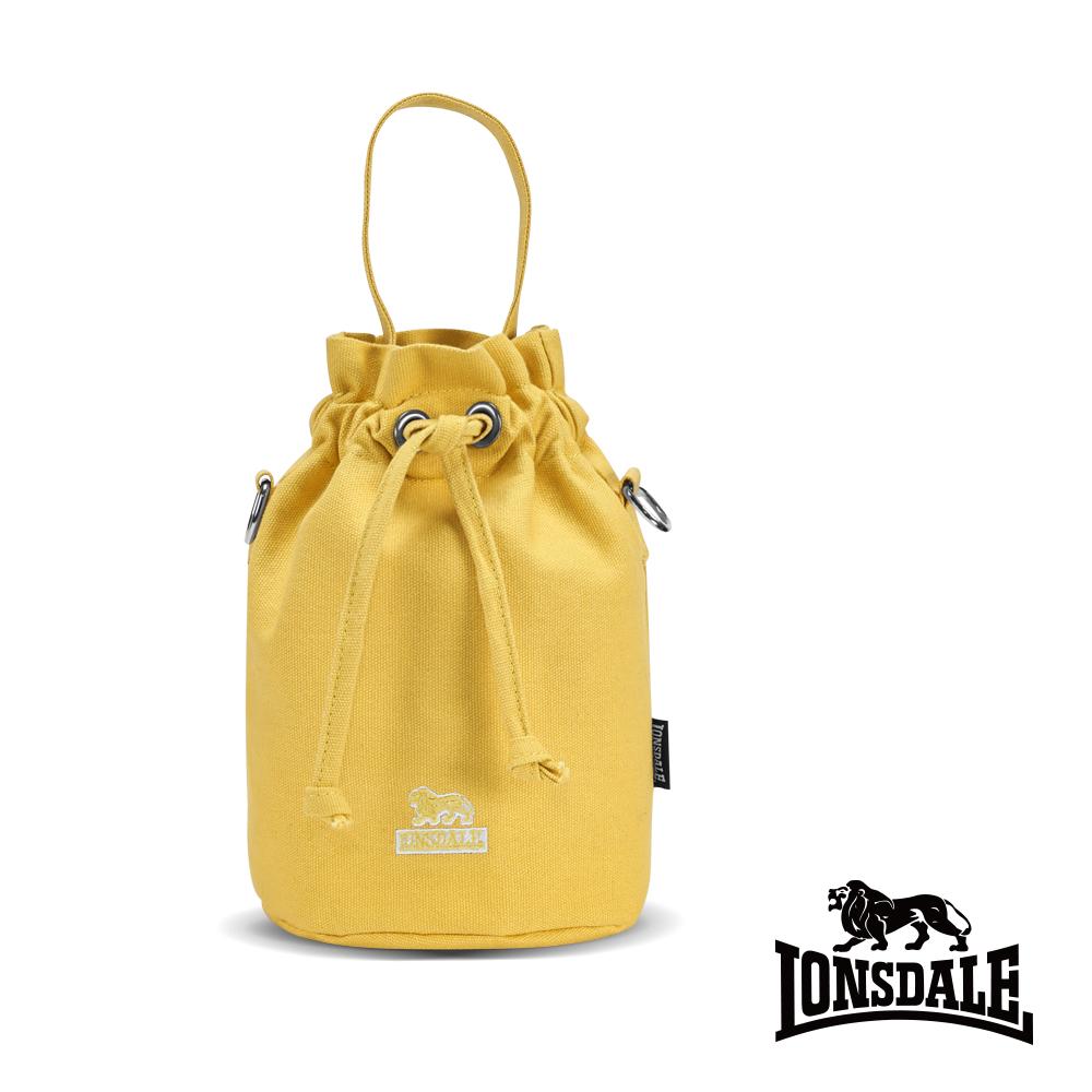 【LONSDALE】英國60周年經典小獅包-帆布斜背水桶包 LD1313 淺黃