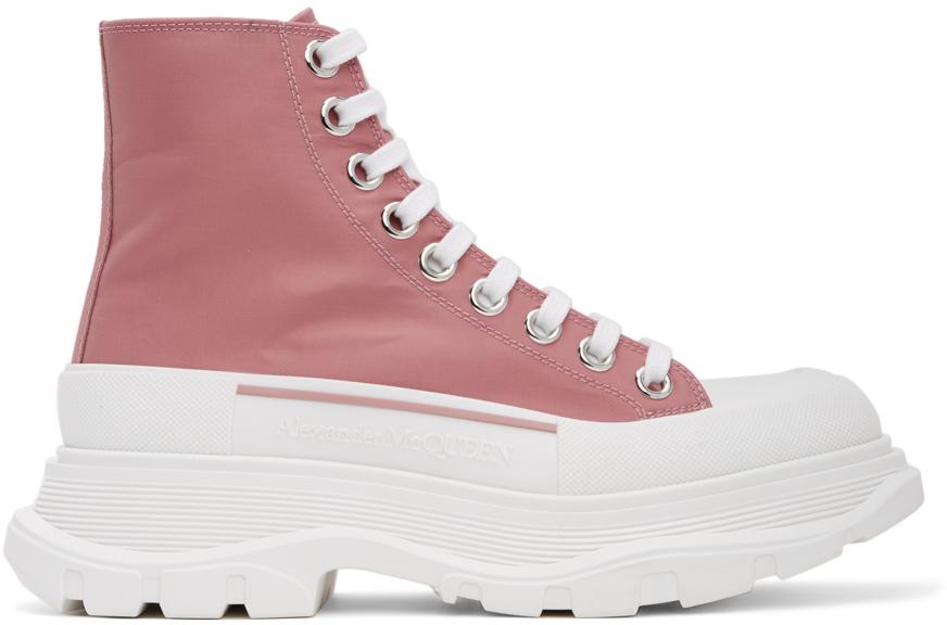 Alexander McQueen 粉色 Tread Slick 高帮运动鞋