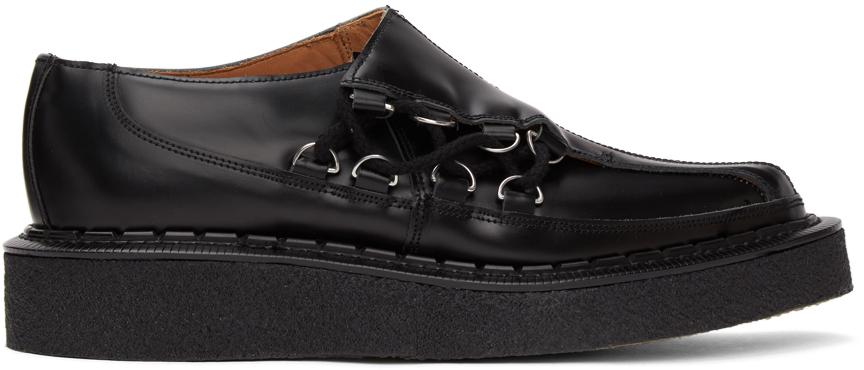 Comme des Garçons Homme Plus 黑色 George Cox 联名不对称德比鞋