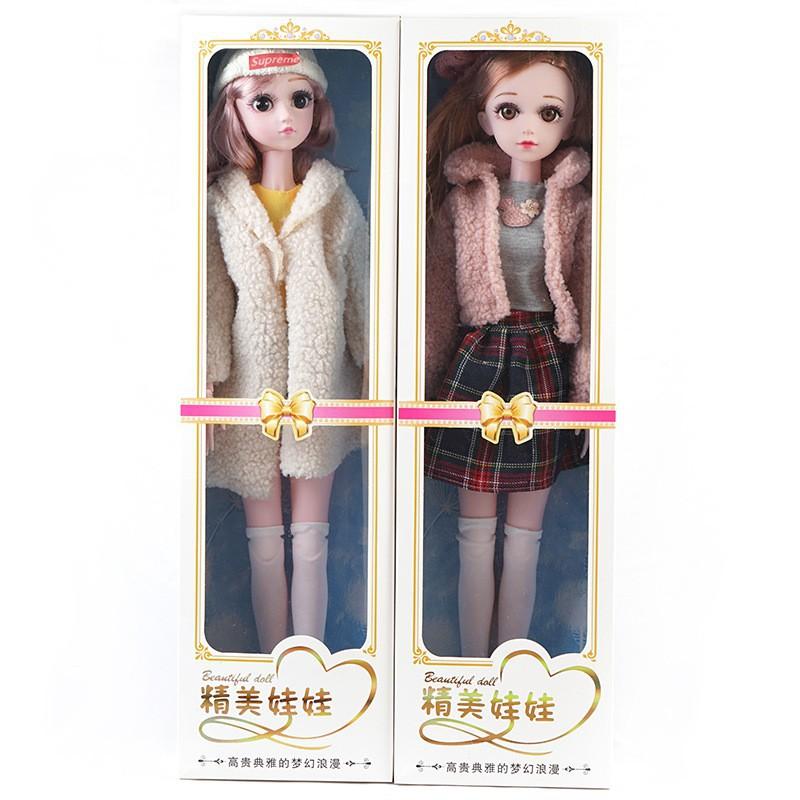 爆款新品60CM巴比洋娃娃小女孩玩具過家家換裝娃娃大禮盒套裝音樂婚紗公主..