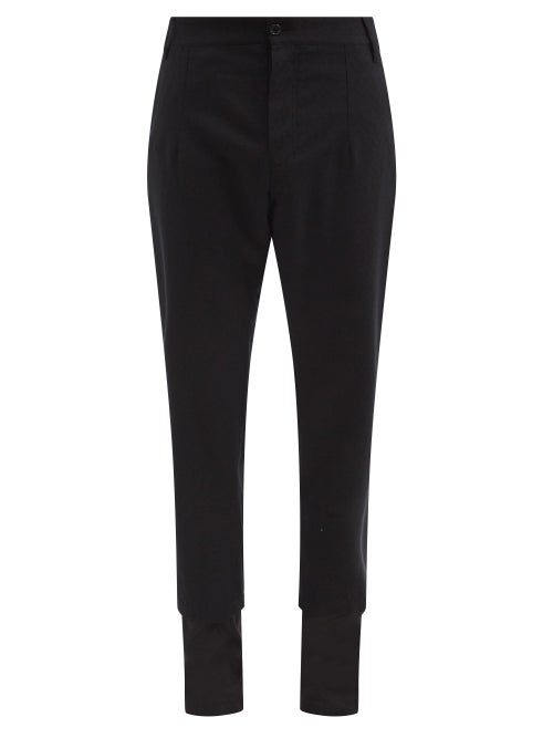 Ann Demeulemeester - Panelled-cuff Cotton Trousers - Mens - Black
