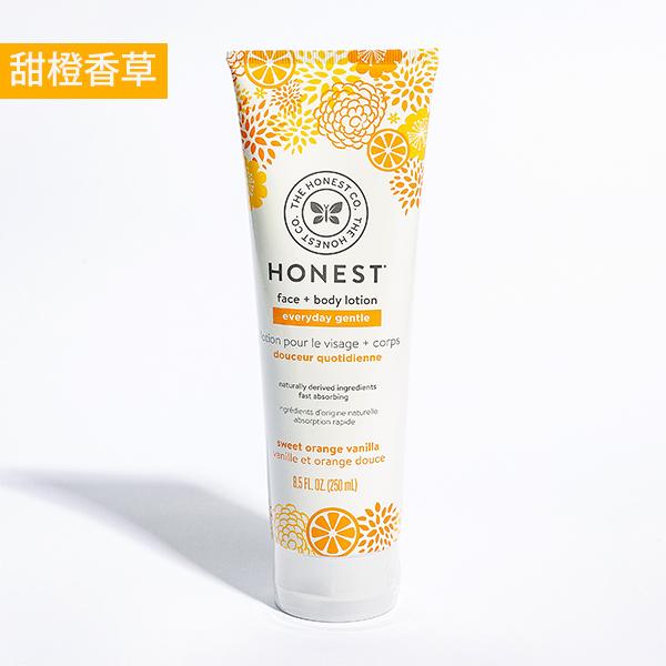 77折↘【加價購】Honest誠實 臉部身體2in1潤膚乳 - 甜橙香草250ml(效期:2022/03)