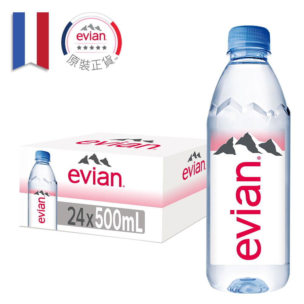 【Evian 依雲】依雲天然礦泉水500ml(24入/PET)【康是美】