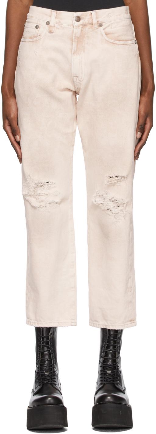 R13 粉色 Boyfriend 牛仔裤