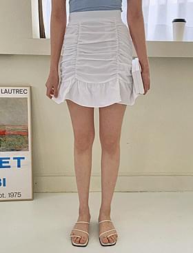 韓國空運 - Cute Shirring Frill SK ♥ Back Banding: D 裙子