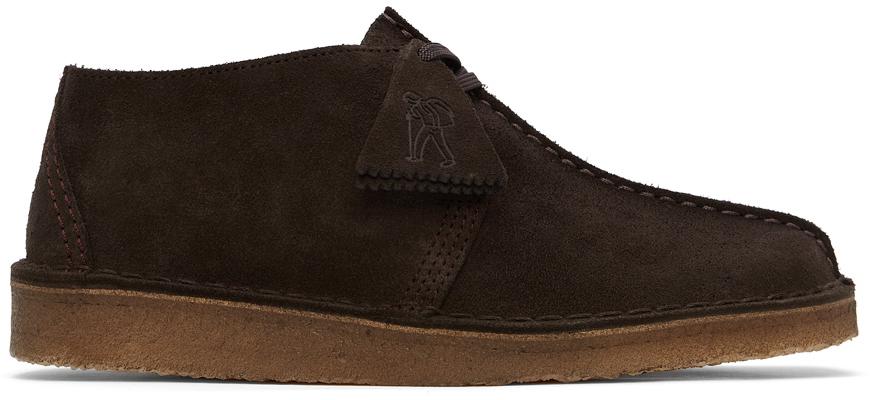 Clarks Originals 棕色 Desert Trek 绒面革德比鞋