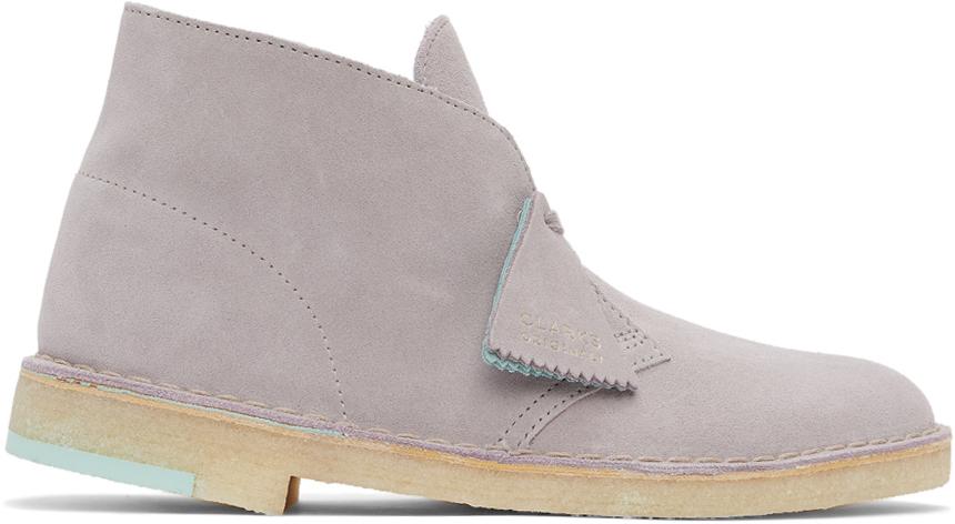Clarks Originals 灰色绒面革沙漠靴