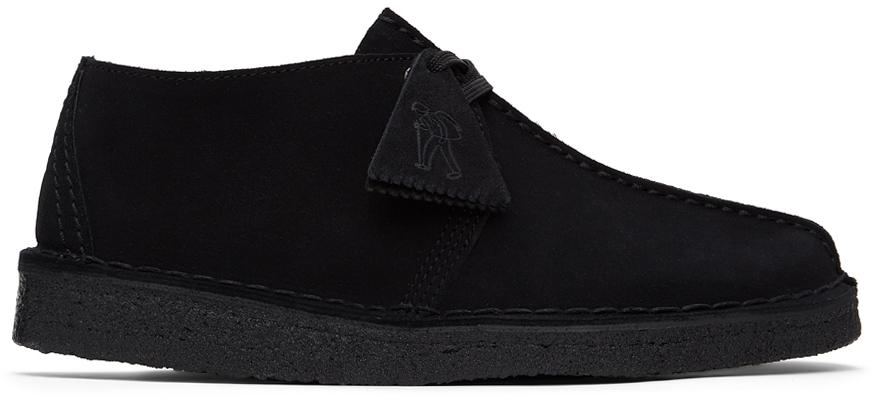 Clarks Originals 黑色 Desert Trek 绒面革德比鞋