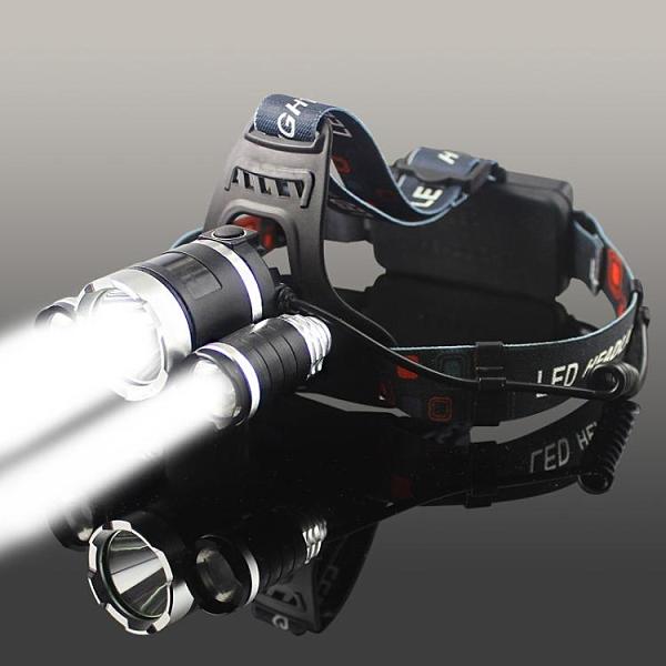 頭燈 強光充電式感應夜釣魚燈遠射手電筒超亮頭戴式多功能【快速出貨】