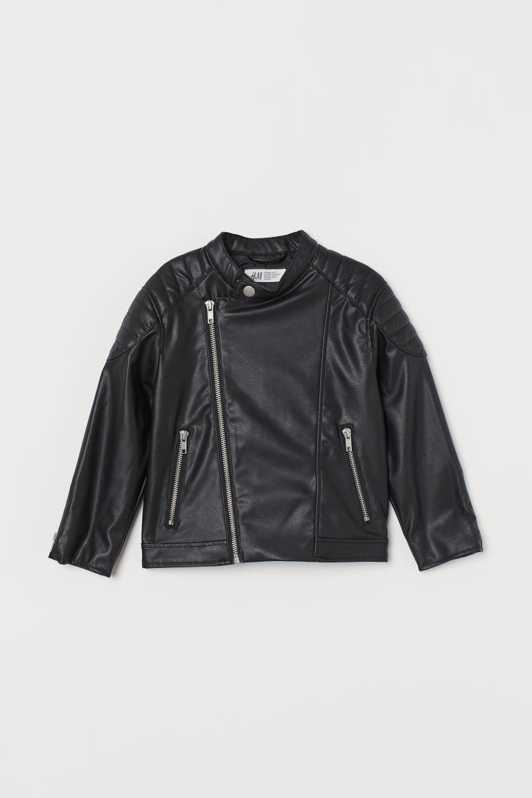 H & M - 騎士外套 - 黑色