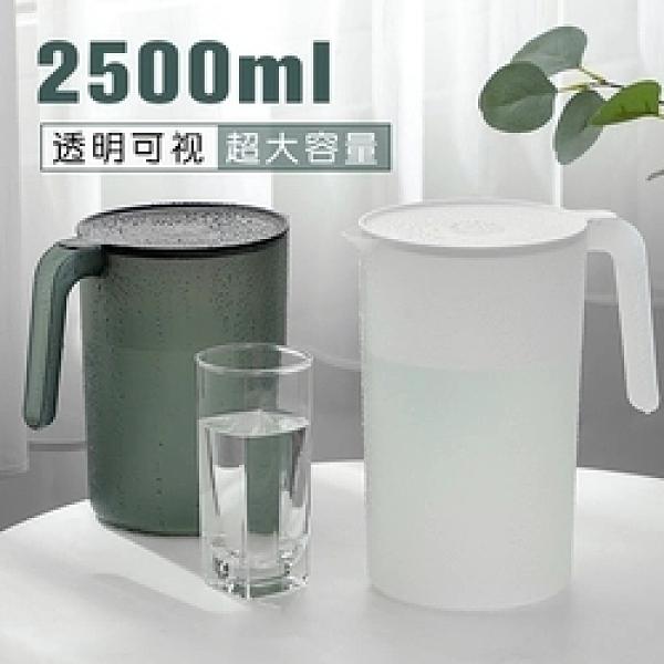 防摔涼水壺冷水家用超大容量耐高溫涼白開水杯茶壺套裝帶刻度塑料【母親節禮物】