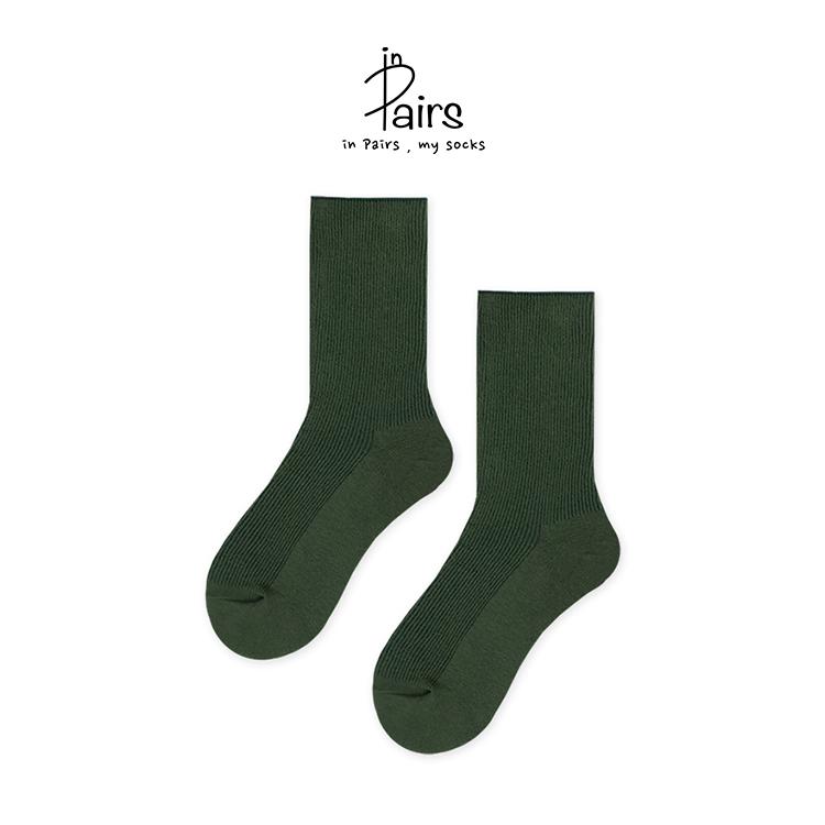 【in Pairs】素色中筒襪-暗夜森林F【康是美】