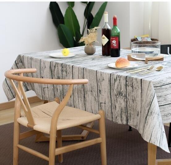 桌布 仿木紋拍照攝影美食背景布藝 棉麻小清新復古餐桌墊 【AM】YJT
