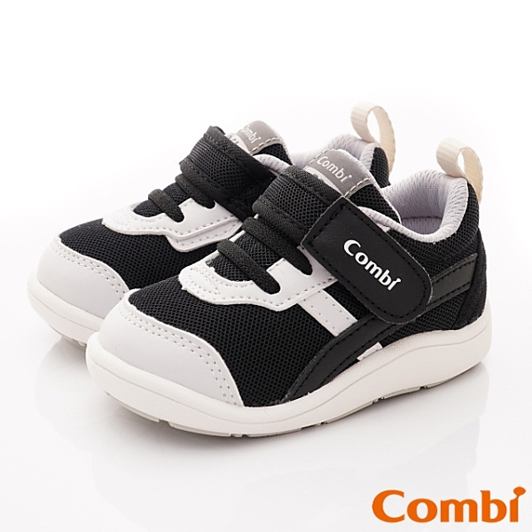 日本康貝Combi機能休閒童鞋NICEWALK 醫學級成長機能鞋-C21_BK黑(寶寶段)