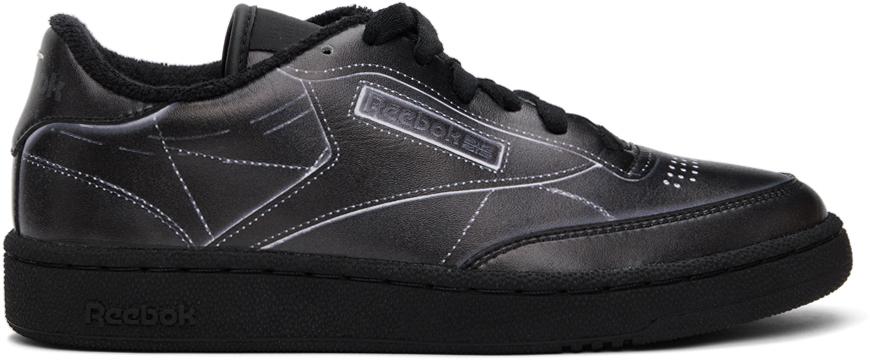 Maison Margiela 黑色 Reebok 联名 Club C Trompe L'ail 运动鞋