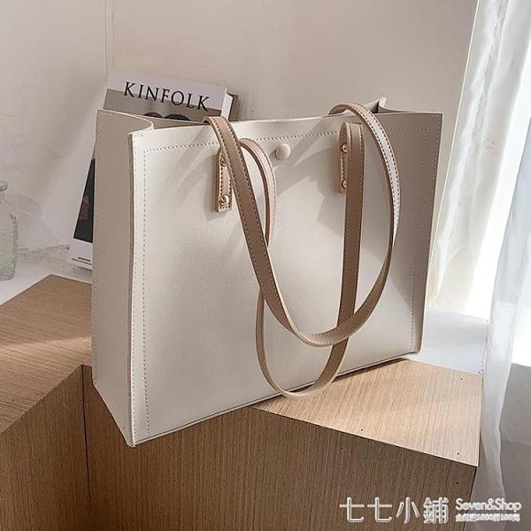 托特包 春夏上新女士大包包2021流行新款潮時尚簡約大容量百搭單肩托特包