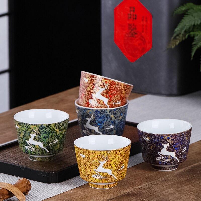 茶杯主人杯陶瓷功夫茶個人專用中式復古國潮大號單個品茗杯單杯