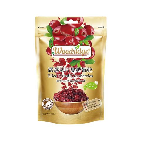 *森之果物嚴選切片蔓越莓乾200g