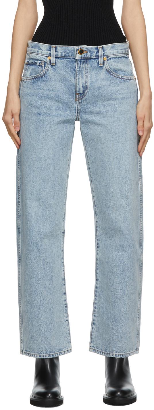 Khaite 蓝色 Kerrie 牛仔裤