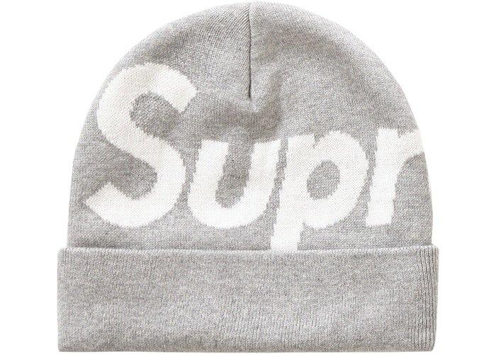 Supreme Big Logo 毛帽 (FW19) 灰色
