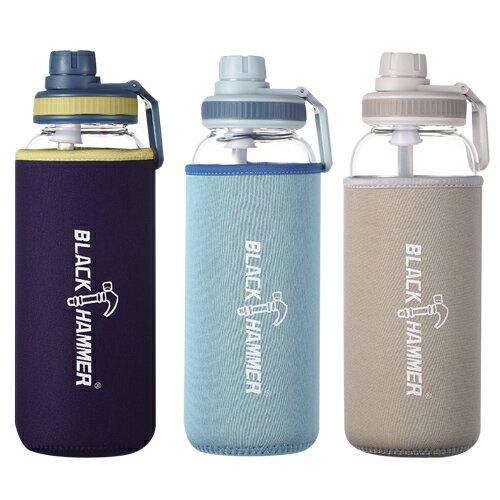 BLACK HAMMER 漂浮耐熱玻璃水瓶(1010ml)【愛買】