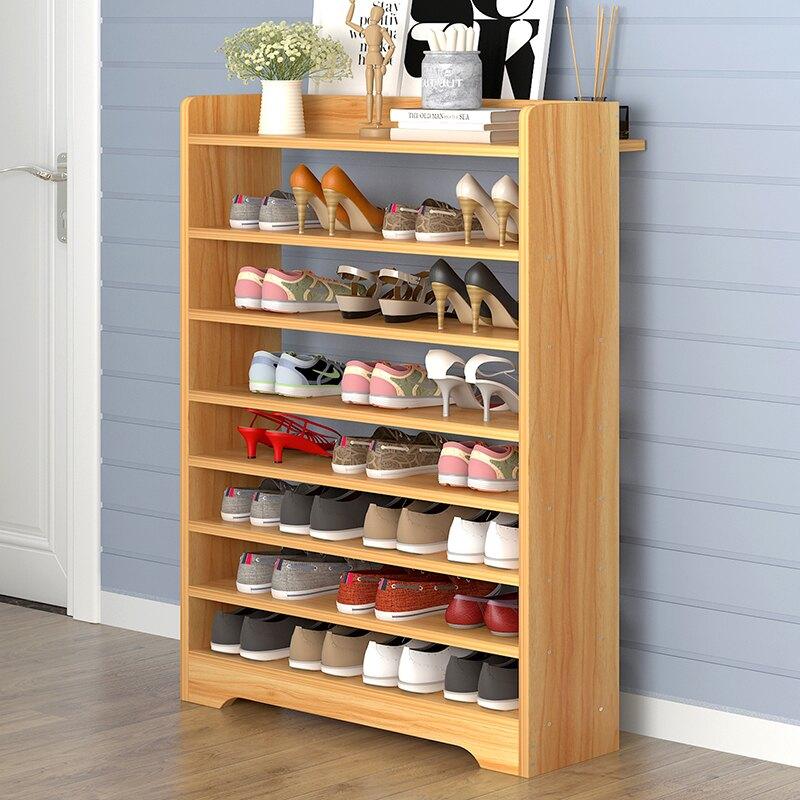 鞋柜 櫃子 鞋架 簡易 家用門口大容量經濟型多層防塵鞋柜省空間多功能窄架子