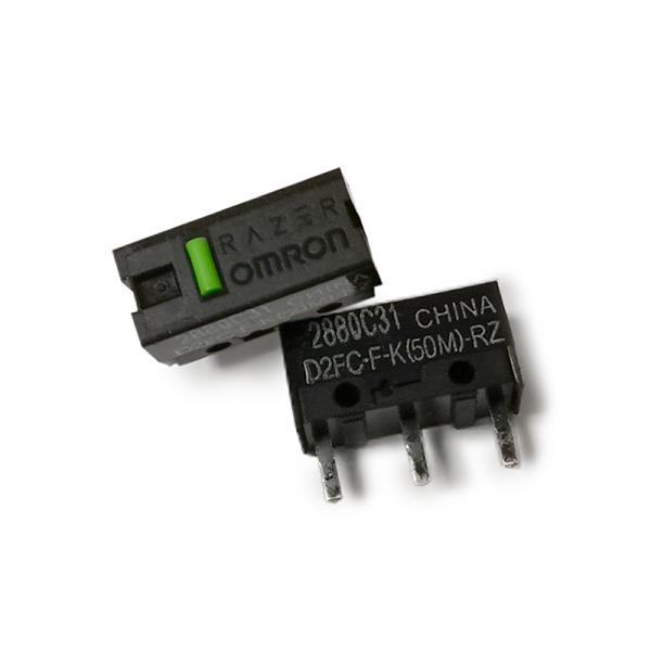 【綠點】OMRON 歐姆龍 滑鼠微動開關 D2FC-F-K(50M) 微動開關 電競滑鼠 按鍵開關 3C週邊