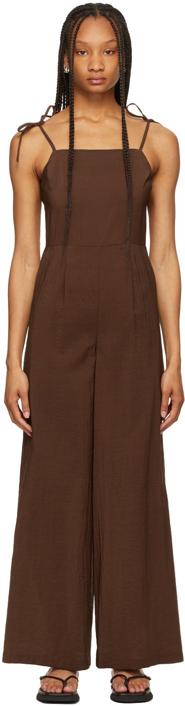 LE17SEPTEMBRE 棕色无袖连身裤