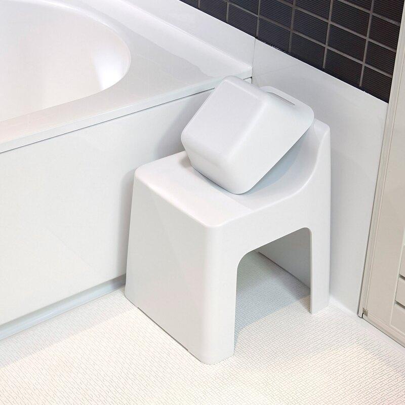 日本进口塑料凳子家用矮凳浴室洗澡凳防滑卫生间水勺水盆水瓢