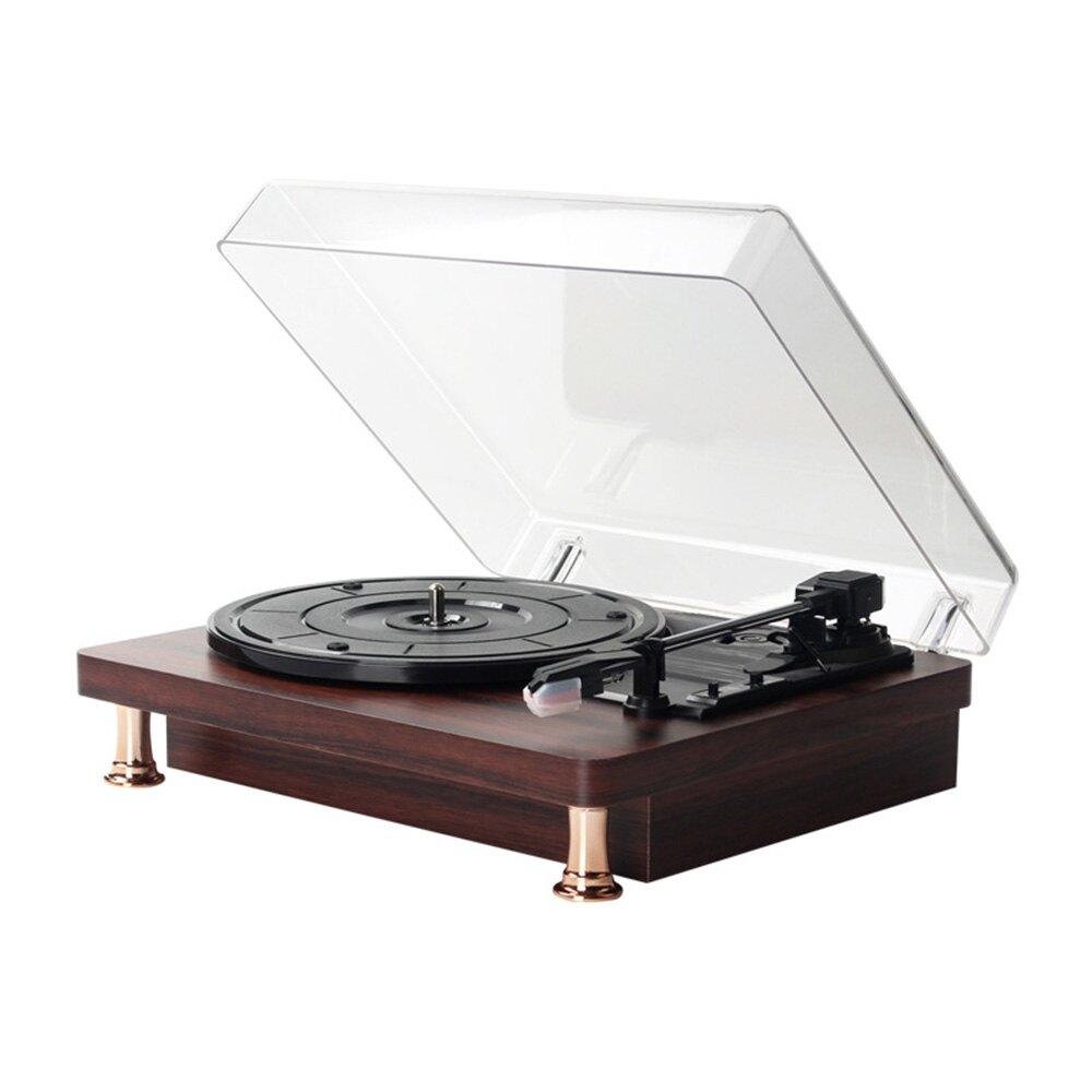 台灣現貨 黑膠唱片機復古留聲機老式唱盤機發燒立【簡約家】