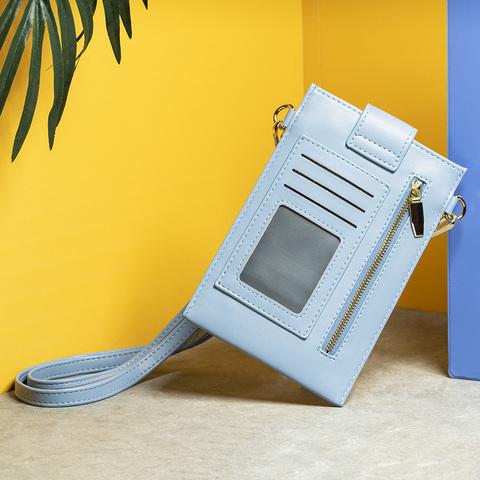 Uniquely多功能斜背手機包-太空藍