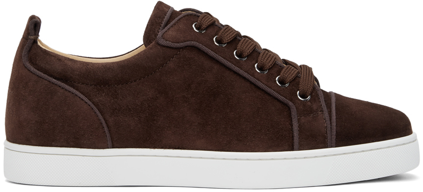 Christian Louboutin 棕色 Louis Junior Orlato 绒面革运动鞋