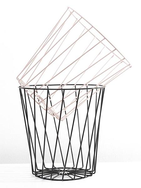 垃圾桶 北歐風鐵藝鏤空垃圾桶家用干濕分離廢紙簍廁所金屬垃圾筒 歐歐
