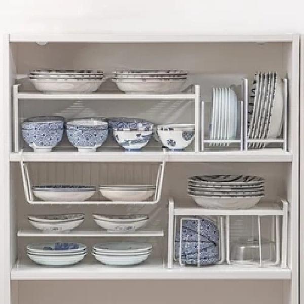 廚房置物架瀝水碗架櫥櫃碗盤碟筷收納餐具下水槽分層臺面架子家用【快速出貨】