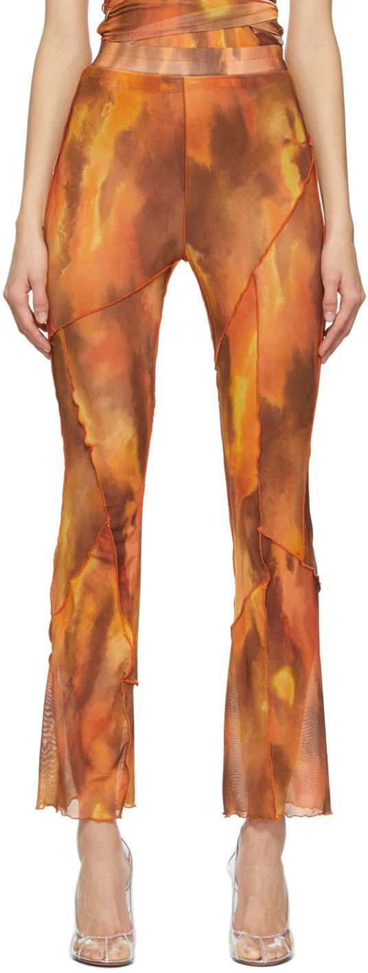 KIM SHUI SSENSE 独家发售橙色网眼长裤
