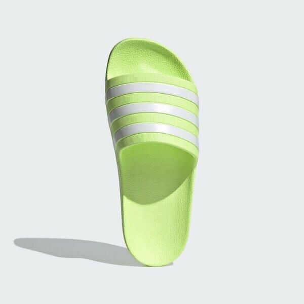 Adidas Adilette Aqua [FY8105] 男女 涼鞋 拖鞋 運動 休閒 舒適 輕量 海灘 游泳 螢光黃 白