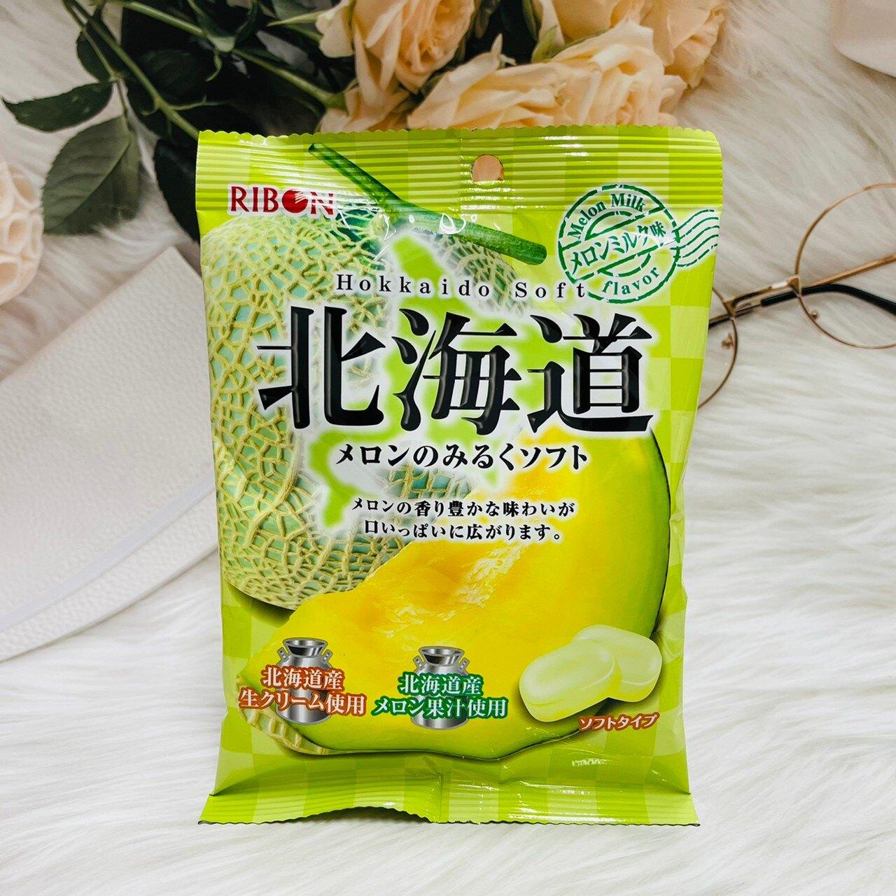 日本 RIBON 立夢 北海道哈密瓜牛奶糖 60g