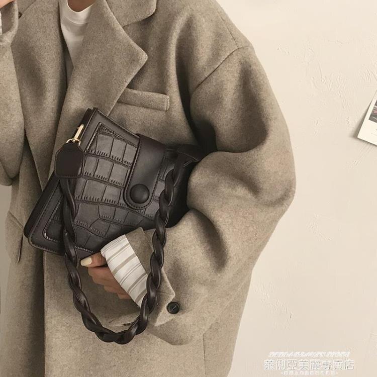 熱賣小方包 小眾設計包包女新款潮網紅復古腋下包百搭INS斜背包小方包【89折特賣】