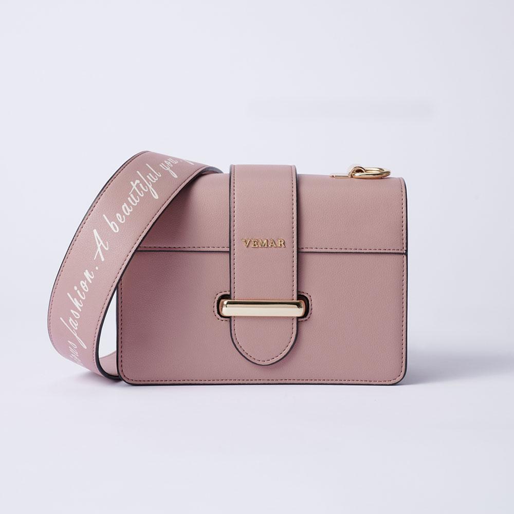 VEMAR極簡時尚經典磚塊小方包(芭蕾粉)