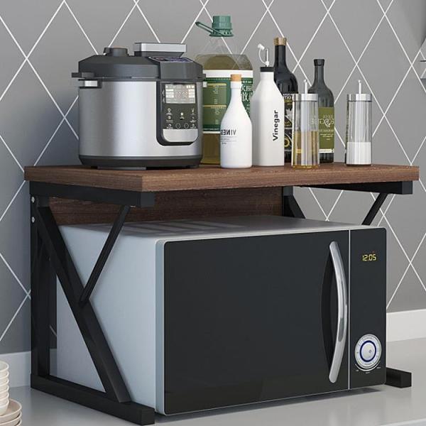 廚房收納調料置物架臺面多層碗架微波爐支架烤箱架子用品家用大全【母親節禮物】