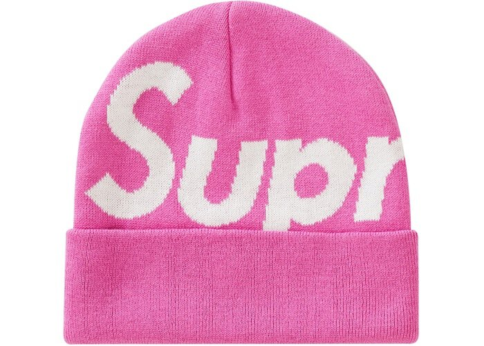 Supreme Big Logo 毛帽 (FW19) 桃紅色