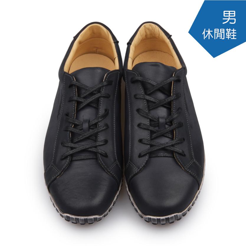 【A.MOUR 經典手工鞋】休閒鞋系列 - 黑(9202)