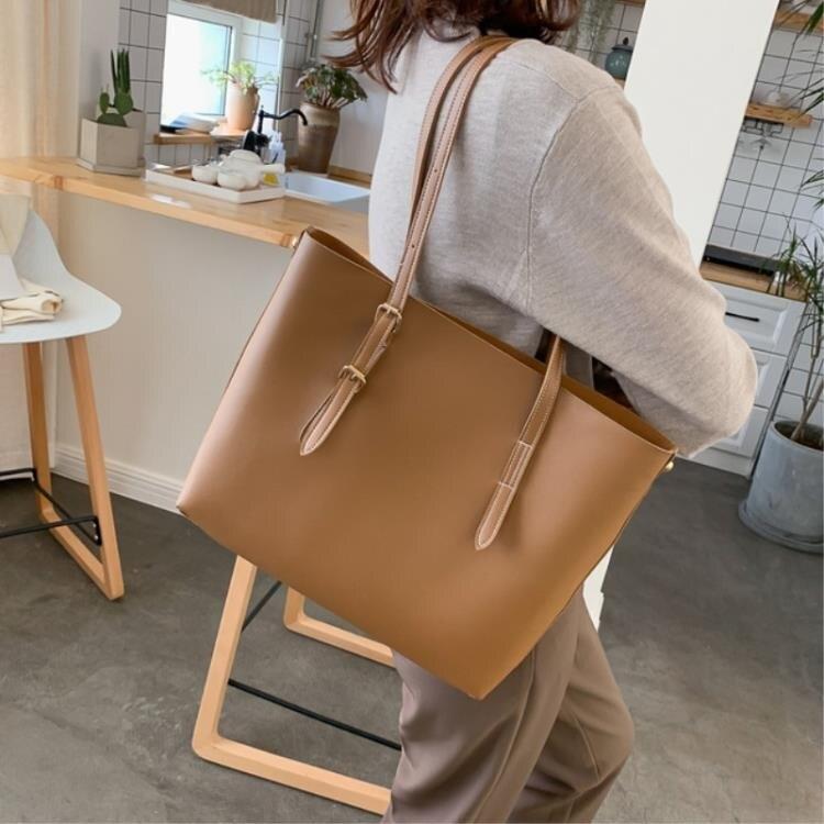 2020新款歐美時尚百搭女士托特子母大包休閑辦公包媽媽包斜挎包