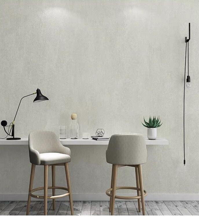 壁紙 北歐水泥灰色純色素色復古墻紙簡約客廳臥室餐館服裝店工業風壁紙