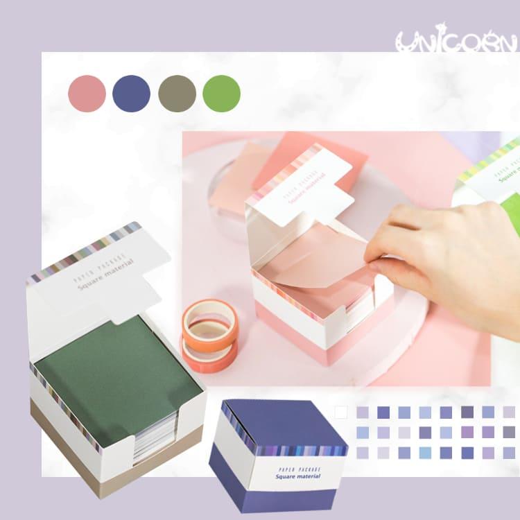 -四色-150張純色便條紙 MEMO紙 色卡 便籤紙 手帳素材紙 摺紙色卡【AS1090839】Unicorn手機殼