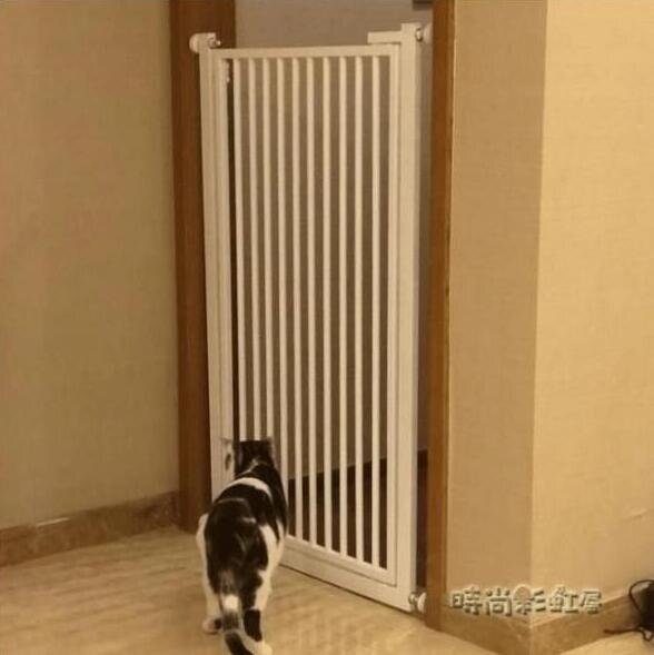 可定制90寬內110高免打孔易拆裝寵物貓狗門欄圍欄隔離門柵欄樓梯MBS