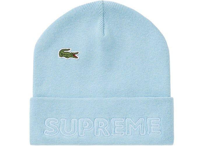 Supreme LACOSTE 毛帽 淺藍色